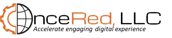 "OnceRed logo with ""Accelerate engaging digital experience"""
