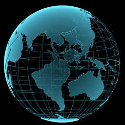 transparent image of the world